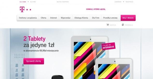 T-Mobile zmienia stronę główną. Spory błąd w ważnej funkcji