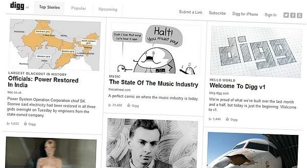 Nowy Digg.com. Bez reklam, zintegrowany z Facebookiem