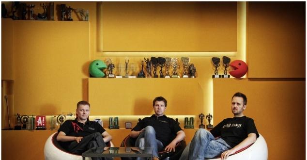 fot. CD Projekt, na zdj. Piotr Nielubowicz, Adam Kiciński, Marcin Iwiński
