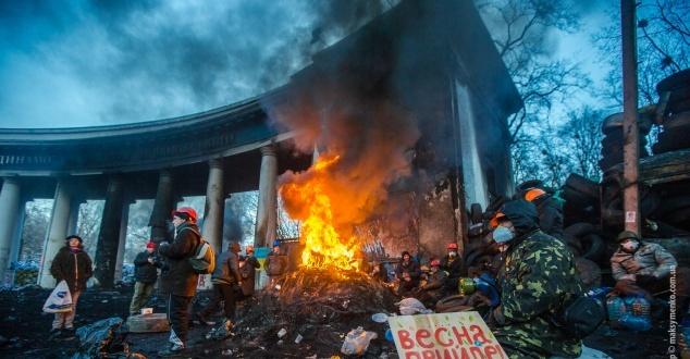 Na zdjęciu protestujący w Kijowie. Fot. Sasha Maksymenko/CC/Flickr