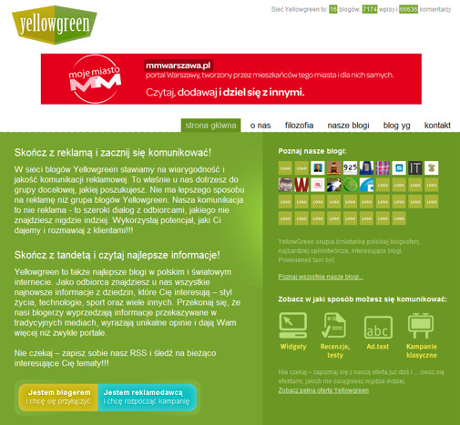 YellowGreen.pl - screen
